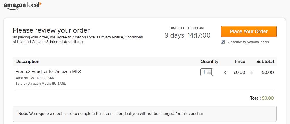Free £2 Amazon mp3 voucher - UKpoints com