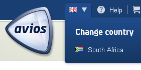 Avios.com change country drop down