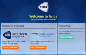 Avios.com UK or South Africa chosen