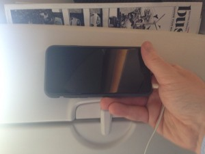 Apple iPhone 6 held up to BA new seat back