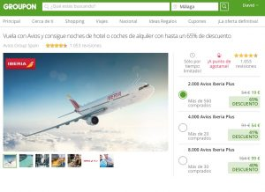 Groupon ES screenshot Iberia Avios