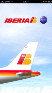 Iberia iOS app splash screen