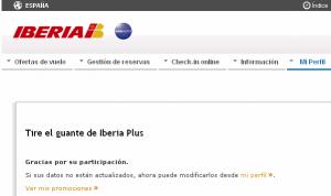 Iberia Plus multipartner promotion subscription confirmed.