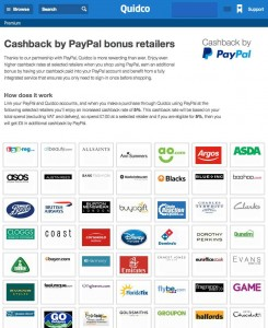 quidco offers 5 extra cashback if you pay by paypal ukpoints com
