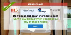 Quidco £10 bonus IHG, Marriott, Accor, Travelodge