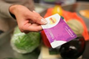 Sainbury's checkout with nectar card
